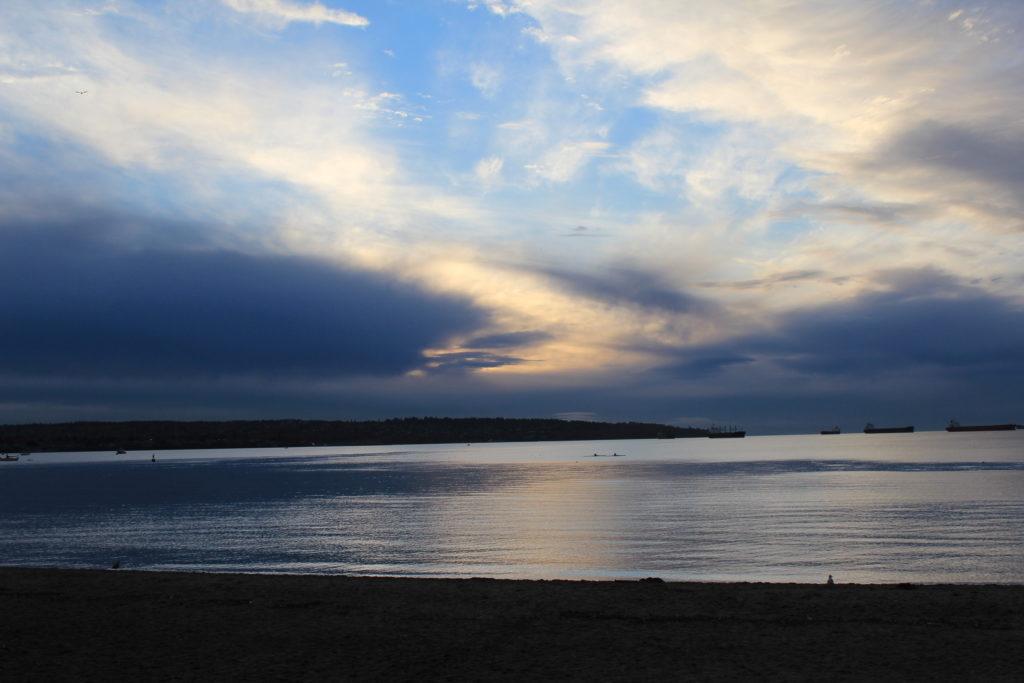 beach, sunset, Vancouver