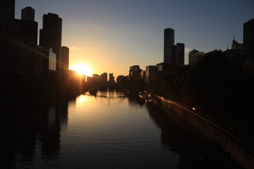Yarra River sunset